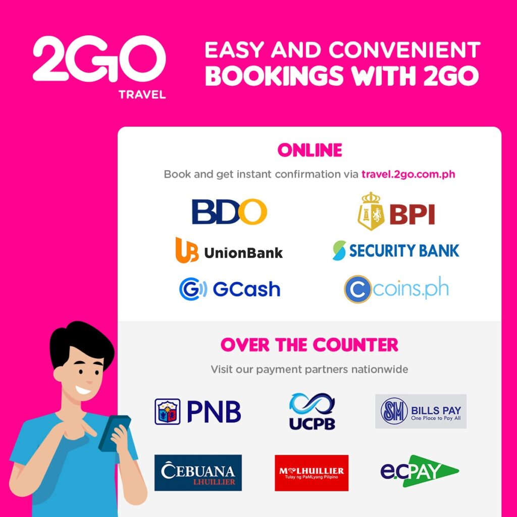 2GO Travel offers more payment options on web booking