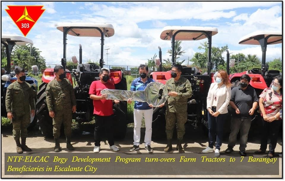 7 brgys in Escalante receive tractors from NTF