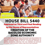 Congress approves bill creating Bacolod Ecozone on 3rd reading