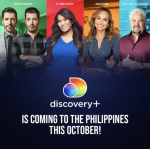 Discovery+ coming to PH this October